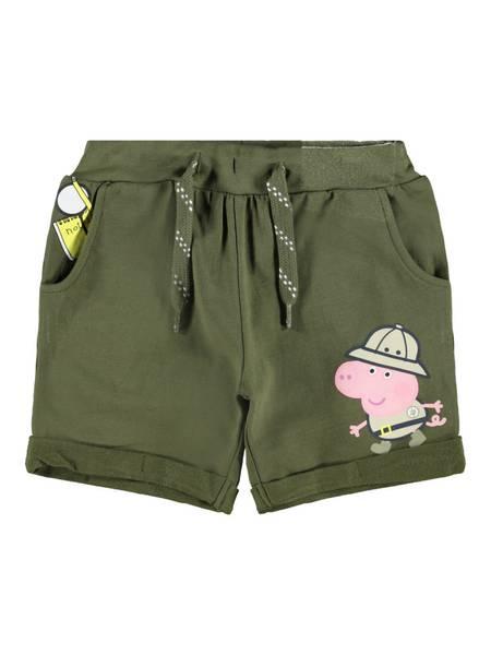 Name it, Nmmpeppapig bertel mosegrønn shorts