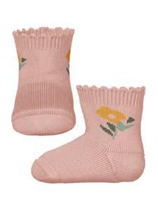 Bilde av Name it, Nbfjanice ferskenrosa sokker med blomst