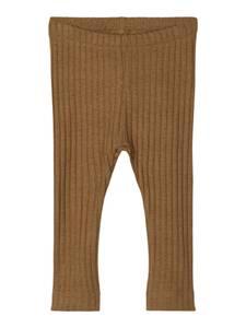 Bilde av Name it, Nbmserio brun ribbet legging