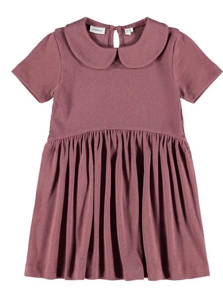 Name it, Nmfhermiona plommefarget kortermet kjole