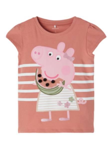 Name it, Nmfpeppapig Renate ferskenrosa t-skjorte