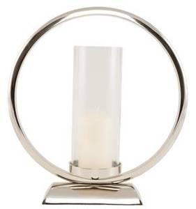 Bilde av Lysestake rund blank nikkel