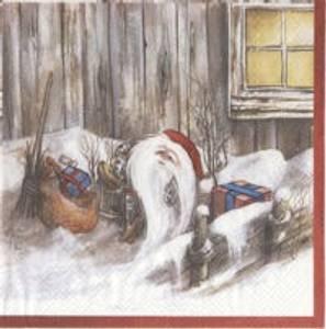 Bilde av Serviett Jul Røros nisse