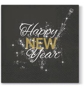 Bilde av Serviett Lunch Happy new year