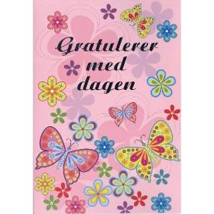 Bilde av Kort Gratulerer/sommerfugler