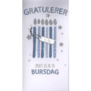 Bilde av Kort Blå Gratulerer/champagne