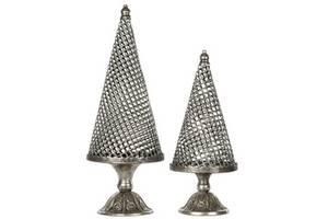 Bilde av Granfat ant/sølv Sett a 2 stk