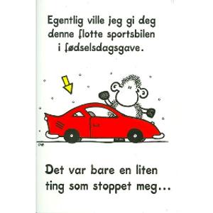 Bilde av Kort Rød sportsbil...