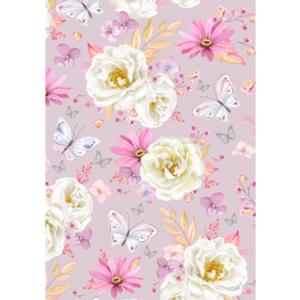 Bilde av Minikort Rosa blomster
