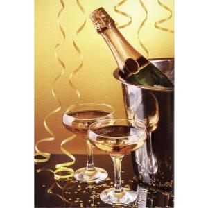 Bilde av Minikort Champagneglass