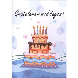 Bilde av Minikort Gratulerer/kake