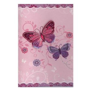 Bilde av Minikort Rosa sommerfugler