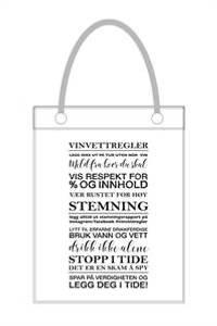 Bilde av Vinflaskepose, Vinvettregler