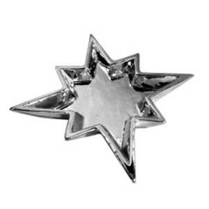 Bilde av Fat stjerne sølv 17x16x2,3 cm