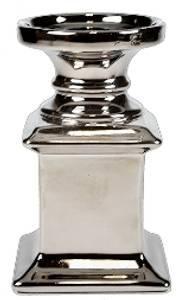 Bilde av Lysestake sølv keramikk
