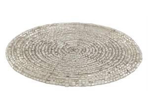 Bilde av Glassbrikke med sølvperler 10