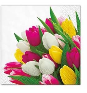 Bilde av Serviett tulipan 25x25 cm a