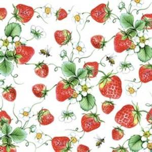 Bilde av Serviett strawberries 33x33