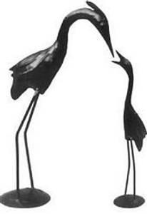 Bilde av Fugler mørk jern 40x25x10 cm