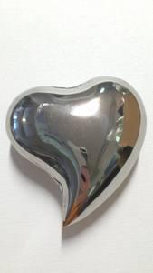 Bilde av Hjerte blank sølv  9x9cm