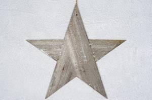 Bilde av Stjerne i tre grå 40cm