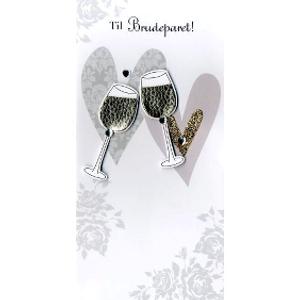 Bilde av Kort Brudepar/champagne glass