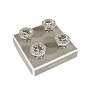 Bilde av Knott metall m/diamanter 4 pk