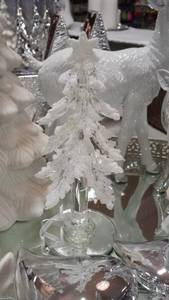 Bilde av Glasstre med snøglitter 15cm