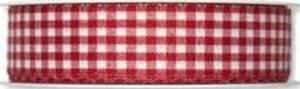 Bilde av Bånd rød smårutet 25mm bred,