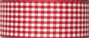 Bilde av Bånd rød smårutet 40mm bred,
