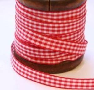 Bilde av Bånd rød smårutet 10mm bred,