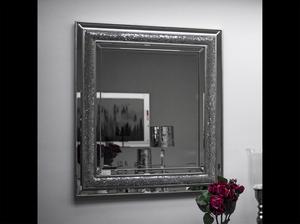 Bilde av Speil m/krakkelert sølv 90x80