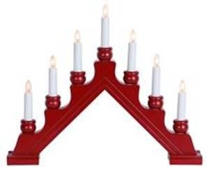 Bilde av Adventstake Rød 7 lys Led