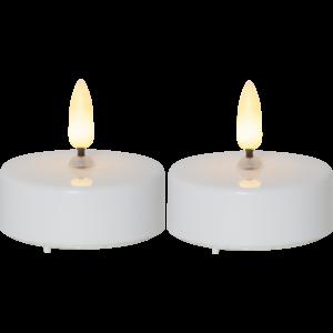 Bilde av Telys 2 pk flamme-lys 5,8 cm