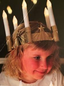 Bilde av Lucia krone gull Ledlys