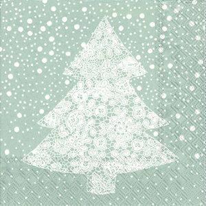 Bilde av Serviett Sølv med juletre