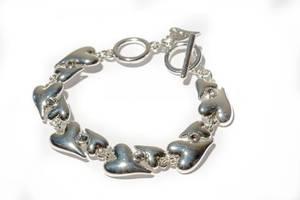 Bilde av Armbånd sølv Hjerter