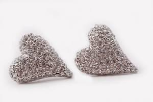 Bilde av Øredobber sølv Hjerter