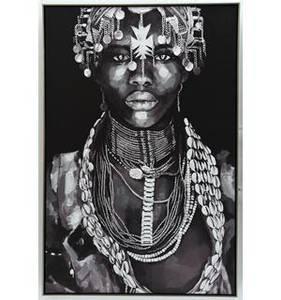 Bilde av Bilde m/ramme sort/hvit dame