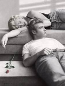 Bilde av Monroe/Dean bilde 60x80 cm