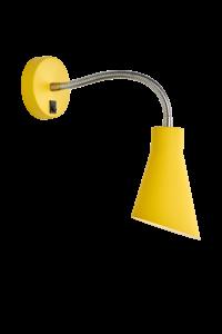 Bilde av Vegglampe Kiwi Gul 17x25 cm