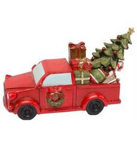 Bilde av Bil Rød m/juletre/pakker