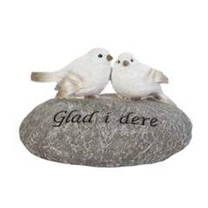 Bilde av 2 fugler på stein/glad i dere
