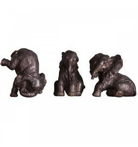 Bilde av Elefant Grå/brun sittende på