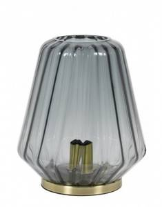 Bilde av Bordlampe glass/smoke copper