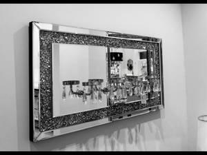 Bilde av Speil m/krystaller/4 stk lys