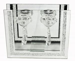 Bilde av Lysestake med speil, glass og