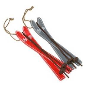 Bilde av Ski 18 cm i tre rød til heng