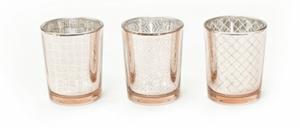 Bilde av Lysglass i rosegull/kobber,