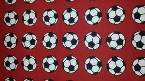 Bilde av Metervare m/fotballmønster,